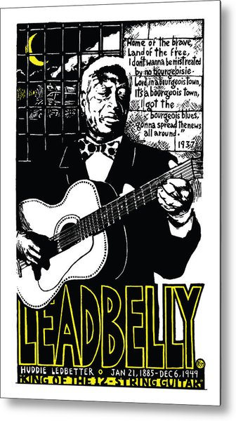Leadbelly Metal Print by Ricardo Levins Morales