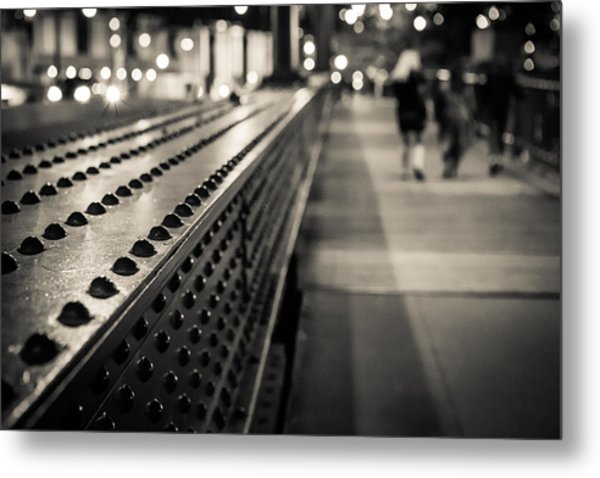 Leading Across Metal Print