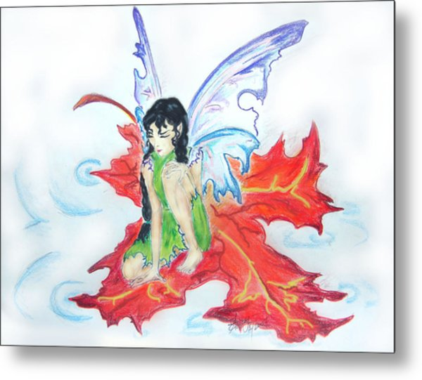 Leaf Fairy Metal Print