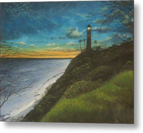 Leahi Lighthouse Metal Print by Wallace Kong
