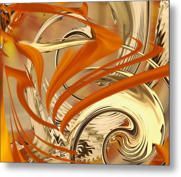 Leaking Color Metal Print