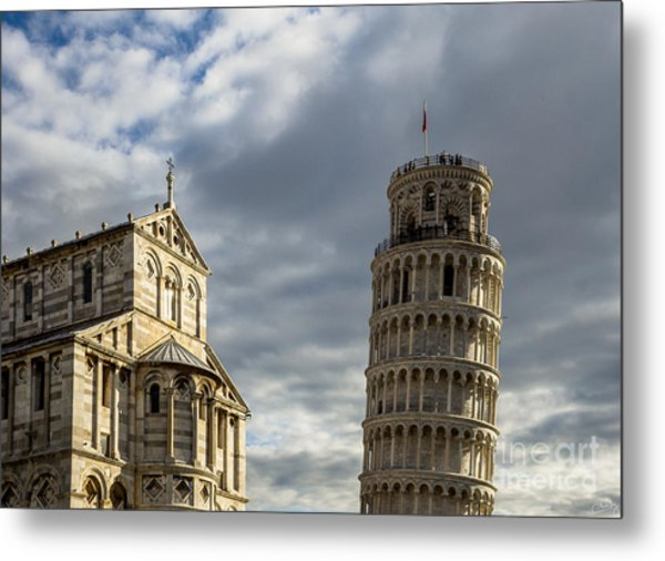 Leaning Tower And Duomo Di Pisa Metal Print