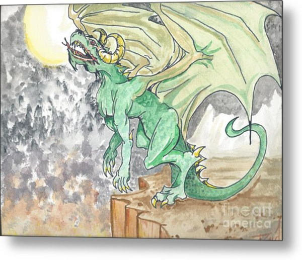 Leaping Dragon Metal Print