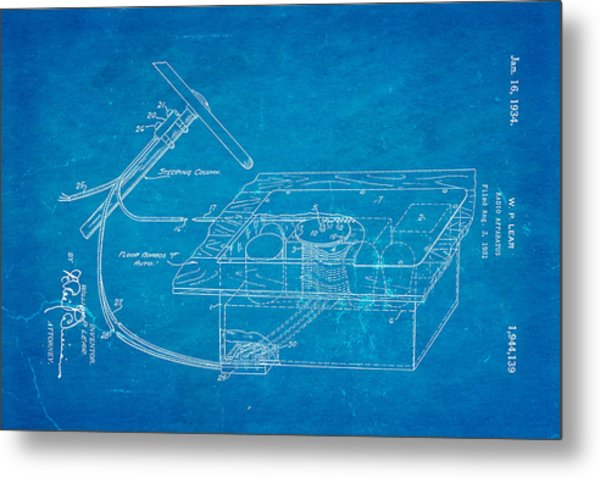 Lear motorola car radio patent art 1934 blueprint photograph by ian monk lear motorola car radio patent art 1934 blueprint metal print by ian monk malvernweather Choice Image