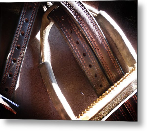 Leather And Iron Metal Print
