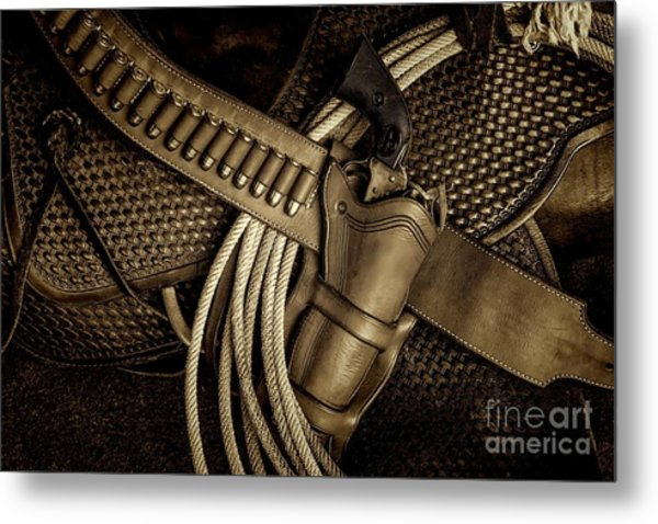 Leather And Lead Metal Print