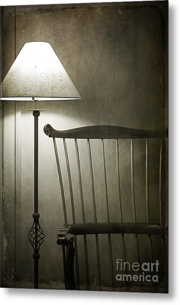 Leave The Light On Metal Print