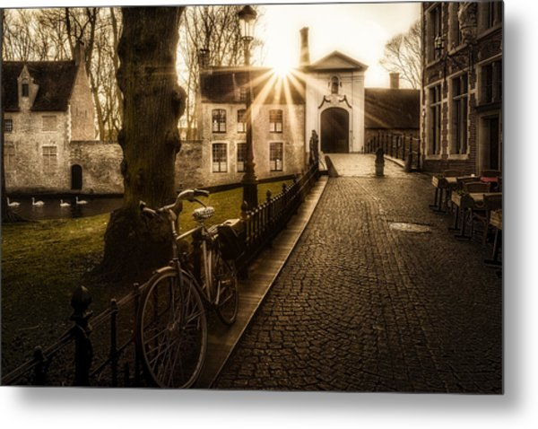 Leaving Metal Print