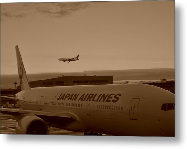 Leaving Japan Metal Print