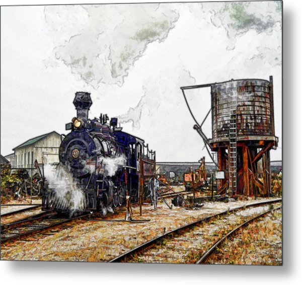Leaving The Yard Metal Print