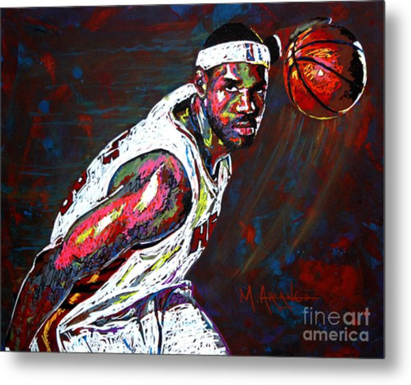 Lebron James 2 Metal Print