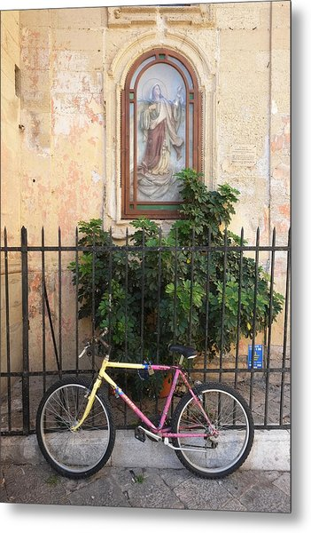Lecce Italy Bicycle Metal Print
