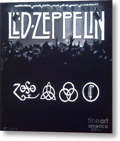 Led Zeppelin Metal Print by Richard John Holden RA