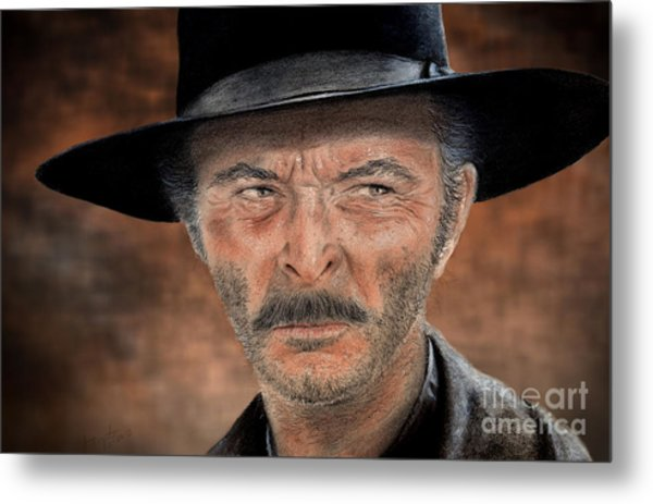 Lee Van Cleef As Angel Eyes In The Good The Bad And The Ugly Version II Metal Print