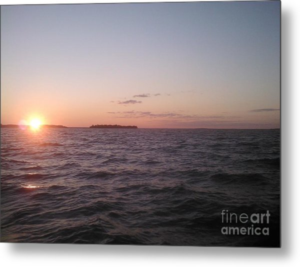 Leech Lake Sunset Metal Print