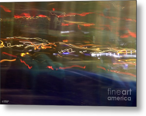 Left To Right Lights Metal Print by Size X