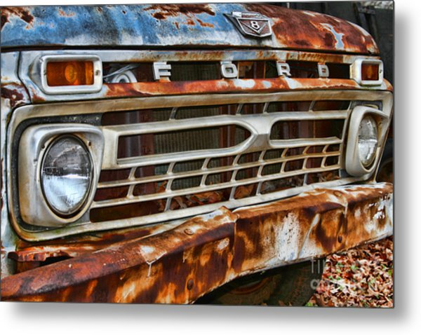 Left To Rust By Diana Sainz Metal Print