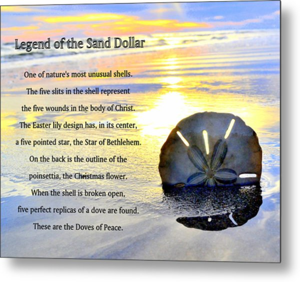 image relating to The Legend of the Sand Dollar Printable titled Legend Of The Sand Greenback
