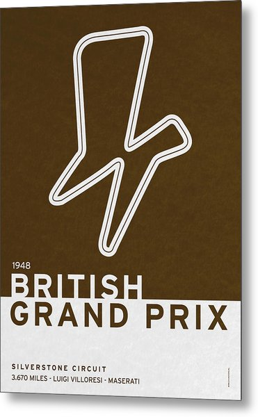 Legendary Races - 1948 British Grand Prix Metal Print