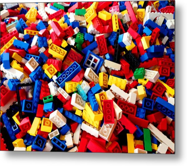 Lego - From 4 To 99 Metal Print