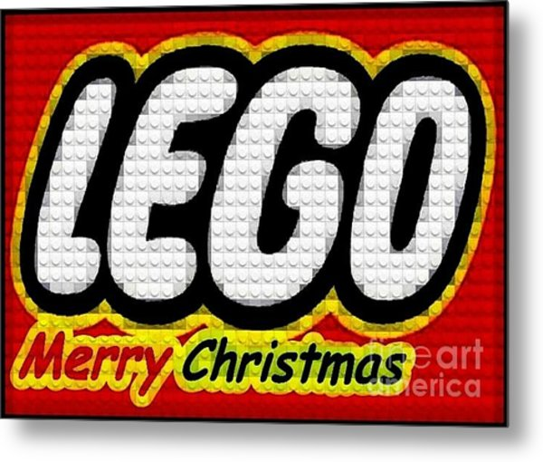 Lego Merry Christmas  Metal Print by Scott Allison