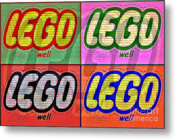 Lego Pop Art Metal Print by Scott Allison