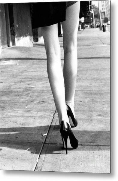 Legs New York Metal Print
