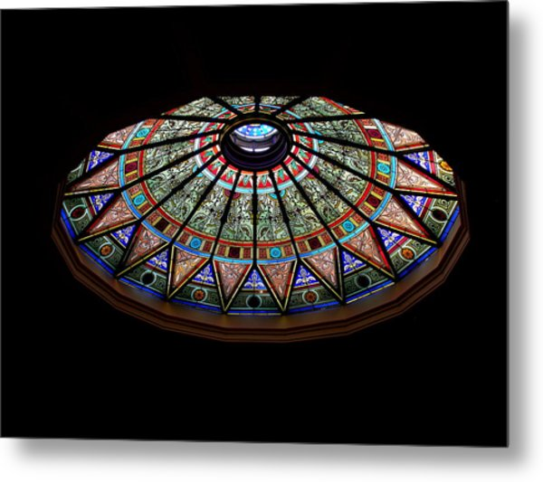 Lehigh University Linderman Library Rotunda Window Metal Print