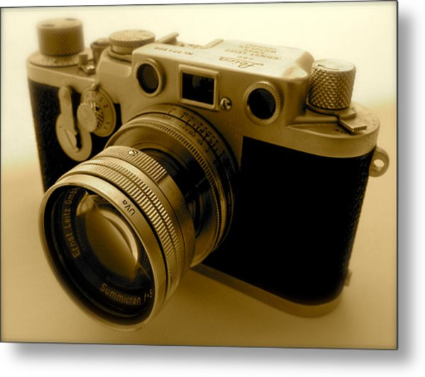 Leica Classic Film Camera Metal Print