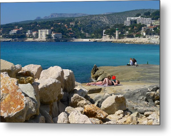 Leisure In Cassis Metal Print