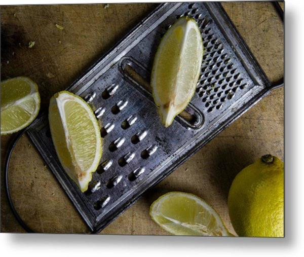 Lemon And Grater Metal Print