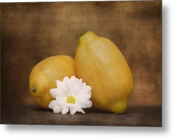 Lemon Fresh Still Life Metal Print