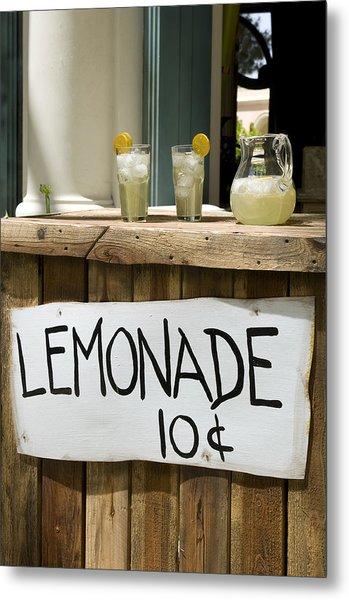 Lemonade Stand Metal Print
