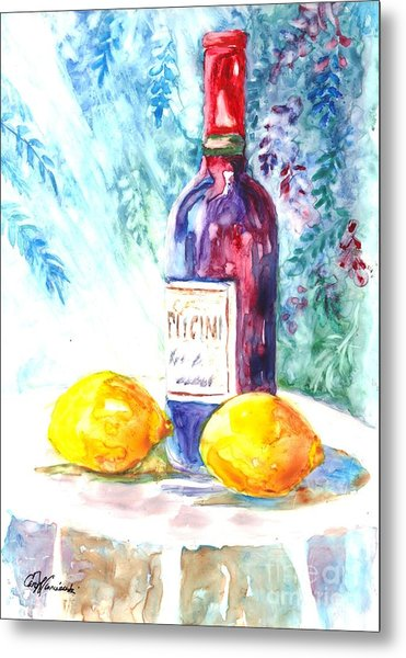 Lemons And Wine And A Little Sunshine Metal Print