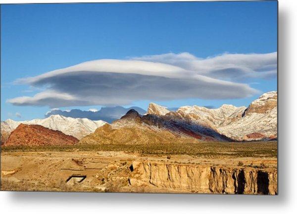 Lenticular Cloud Red Rock Canyon Metal Print