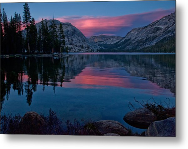 Lenticular Sunset At Tenaya Metal Print