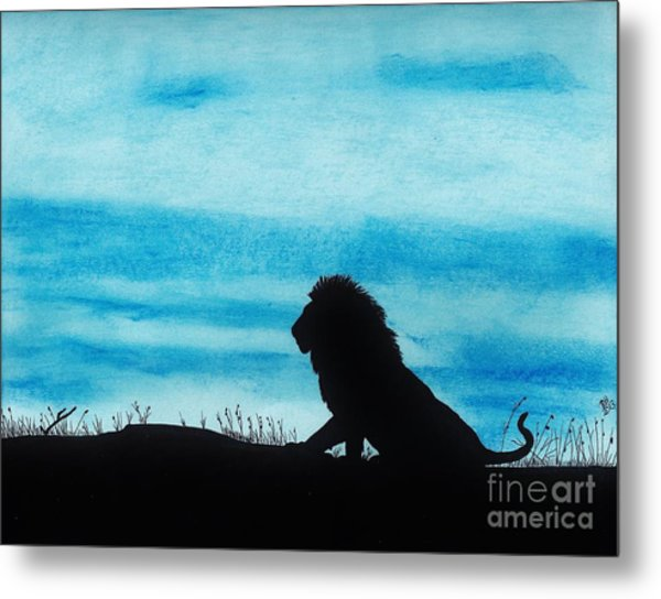 Leo At Sunset Metal Print
