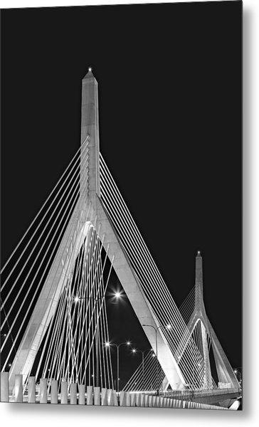 Leonard P. Zakim Bunker Hill Memorial Bridge Bw II Metal Print