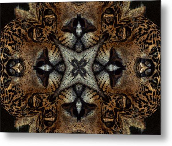 Leopard Kaleidoscope  Metal Print