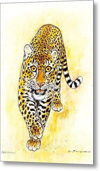 Leopard Metal Print by Kurt Tessmann