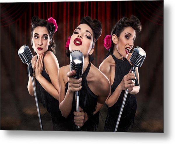 Les Babettes - Turbo Swing Trio Metal Print