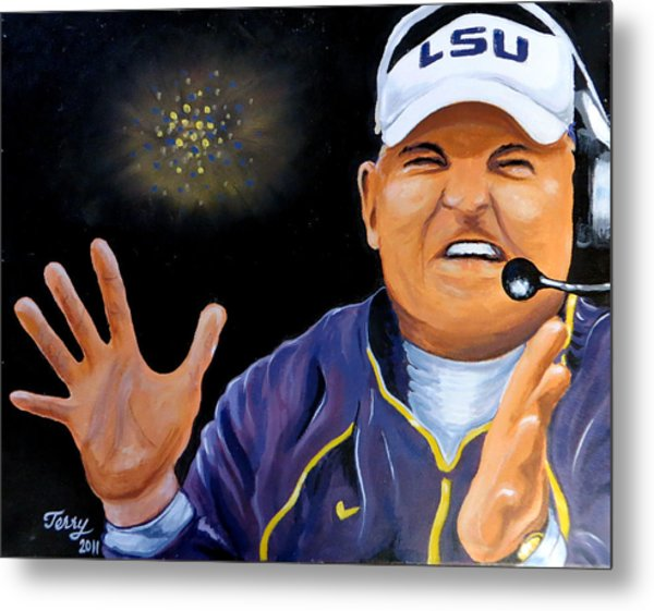 Les Miles Clapping Metal Print by Terry J Marks Sr