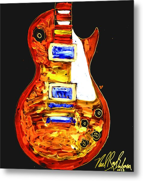 Les Paul 111 Metal Print