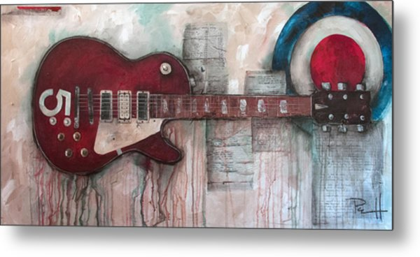 Les Paul Number 5 Metal Print