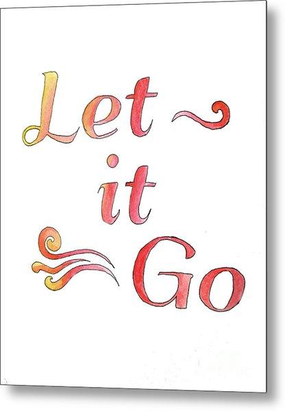 Let It Go Alternate Colors Metal Print