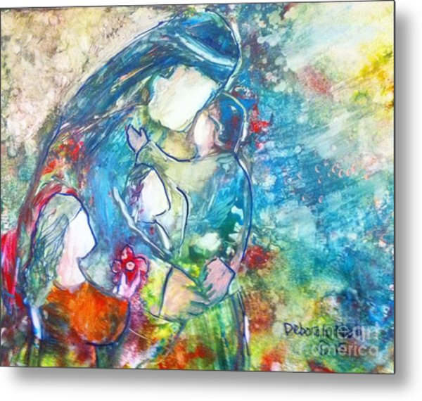Metal Print featuring the painting Let The Children Come To Me by Deborah Nell