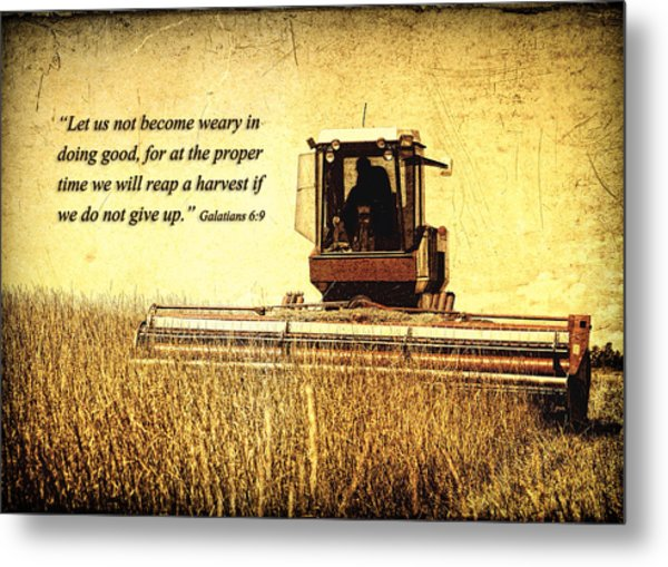 Let Us Not Become Weary Metal Print