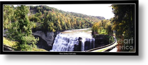 Metal Print featuring the photograph Letchworth State Park Middle Falls Panorama by Rose Santuci-Sofranko