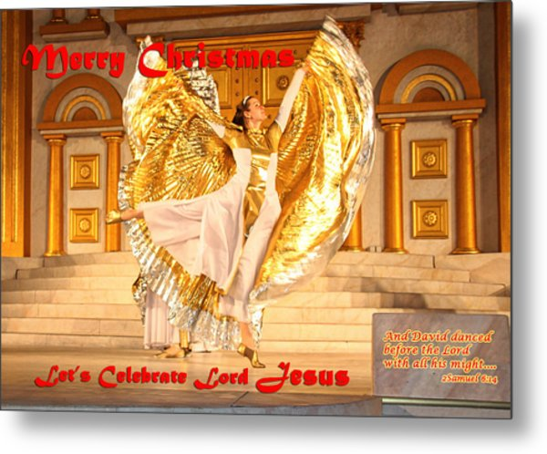 Let's Celebrate Lord Jesus And Dance Metal Print