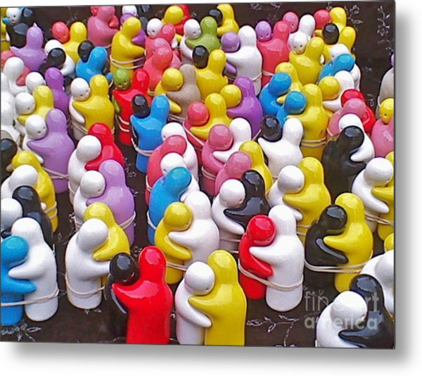 Let's Hug It Out Metal Print by Maritza Melendez